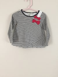 white and black stripe long sleeve  Portland, 04102