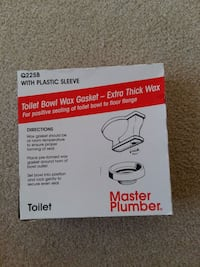 Toilet bowl wax gasket with plastic sleeve North Vancouver, V7N