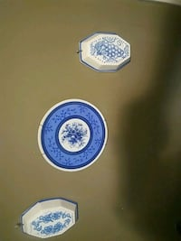 Blue and White China Hanging