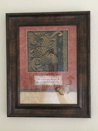"""Nice framed decor. Perfect condition! 12"""" x 15.5"""" San Marcos, 92078"""