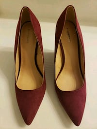 pair of red pointed-toe heeled shoes Stafford, 22554