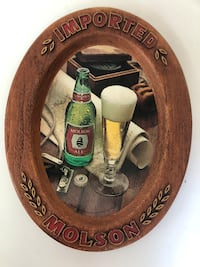 """*Vintage* Molson Imported 14"""" Oval Shaped Beer Sign Lawrenceville"""