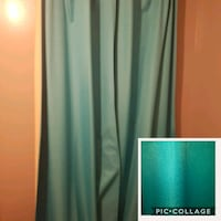 Teal black out curtain panels (2 of them) Winnipeg, R2P 1B6