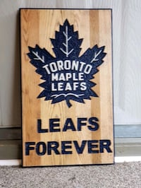 Hand carved wooden sign. Mississauga, L5N 3A8