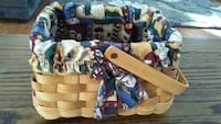 Cute colorful lined basket