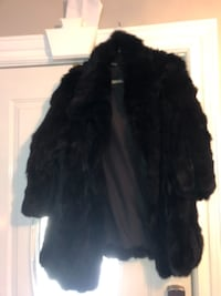 Black rabbit fur coat null
