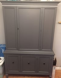 Gray wooden china cabinet/closet  Wappingers Falls, 12590