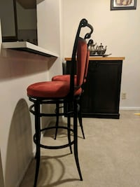 Bar chairs - Red and black