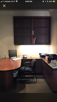 Executive Office Furniture Desk with Book Shelves West Palm Beach, 33409