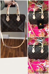 black and brown Louis Vuitton leather tote bag Edmonton, T6J 4T1