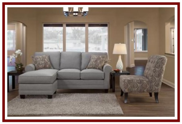 Flip Sofa/Chaise Sectional - Made by Serta Upholstery