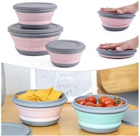 3Pcs Portable Collapsible Food Container Folding Bento Box Bow Palm Coast