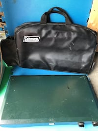 Colman grill and carrying case
