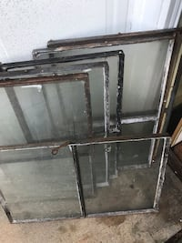 6- Steel frame window sashes. Circa 1950, Va$10 each all for 50..