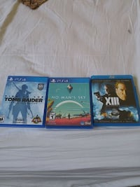 four assorted PS4 game cases Edmonton, T5H 1T7