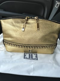 Ivanka Trump Gold-colored leather clutch