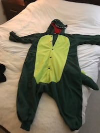 Lizard Alligator Godzilla Onesie Costume - worm once, dry cleaned Los Angeles, 91367