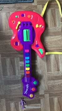 Baby's red and purple kids beats guitar plastic toy
