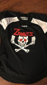 Black and white reebok zombies jersey