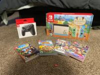 Nintendo Switch Animal Crossing Edition w/ Pro Controller and 128 GB