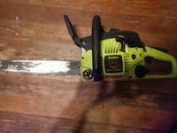 yellow and black Poulan chainsaw null
