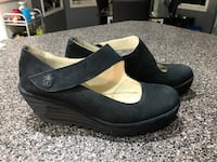 FLY LONDON BLACK SUEDE MARY JANE WEDGES SZ 41 Sherwood Park, T8H 2E4