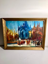 Framed Original Painting from Myanmar  Беконсфилд, H9W 4H6