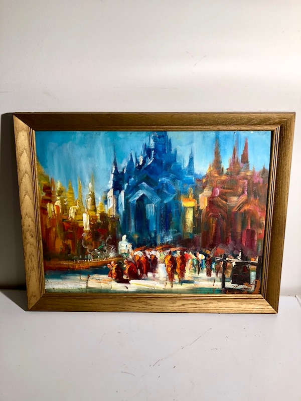 Framed Original Painting from Myanmar  b0392835-ffc0-4226-bc85-78b62ad0a0a5