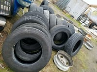 Truck and trailer tiers 2340 mi