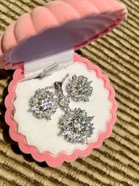 Brand new beautiful 925 silver jewelry set, gift , necklace, earrings, wedding Whitchurch-Stouffville, L4A 6L1