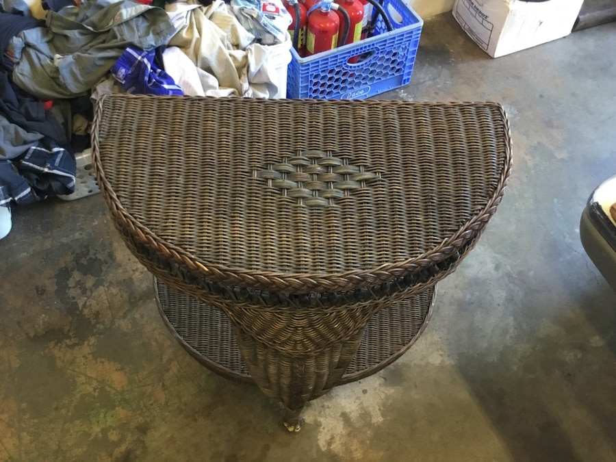 Brown wicker table - $28.99