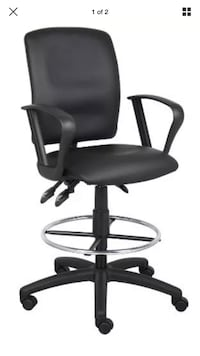 Black leather office rolling armchair. This is brand new, still in the box ! Fort Collins, 80524