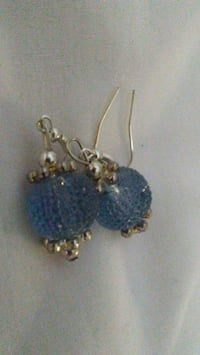 blue beaded gold-colored hook earrings Mount Joy, 17552