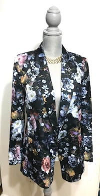 (Brand New) H&M Floral Satin Jacket Toronto