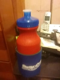 blue and red plastic container Crowley, 70526