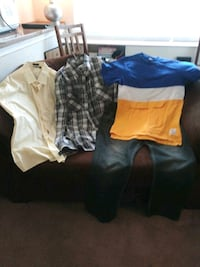 two blue and yellow shorts Hyattsville, 20782
