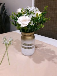 White Gold Ombre Centerpieces