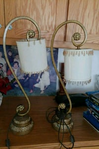 two white and brown table lamps Ceres, 95307