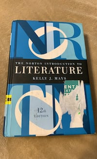 The Norton Introduction to Literature - Kelly J Mays College Text Book North Smithfield, 02896