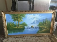 brown wooden framed painting of house near body of water Salem, 97302