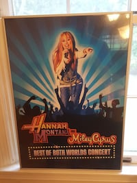26x13 MILEY CYRUS FRAMED POSTER
