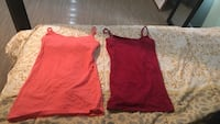 Peach-colored and red spaghetti strap sleeveless tops Hogansville, 30230