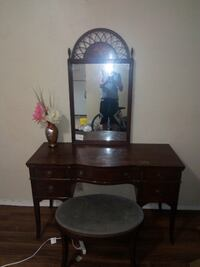 brown wooden dresser with mirror CALGARY
