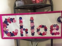 Personalized button frame