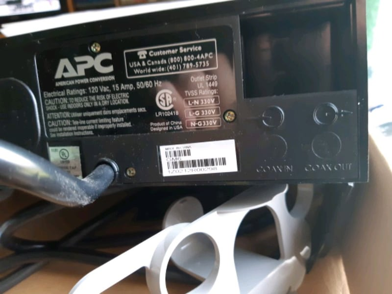 APC Surge Protector and disk organizer 3