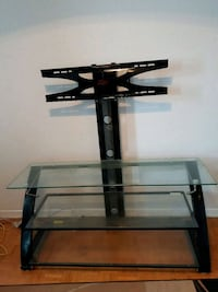 black glass TV stand with mount Toronto