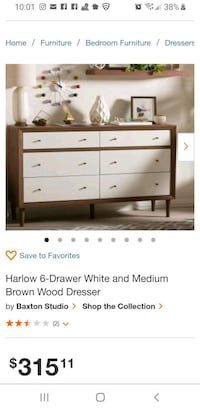 Langley Street Sunset 6 Drawer Double Dresser Los Angeles, 91311
