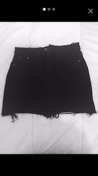Women black ripped denim skirt London, W12