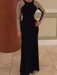 Xscape Beaded illusion hourglass gown New York, 10025
