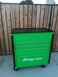 green and black Snap-On tool cabinet Bakersfield, 93312